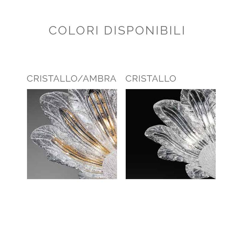 CA' FIORITA Plafoniera in Vetro Di Murano d.60 Design Contemporaneo