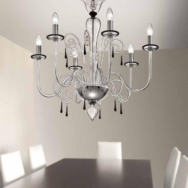 CA' VITTORIA Chandelier Murano Glass Contemporary Design