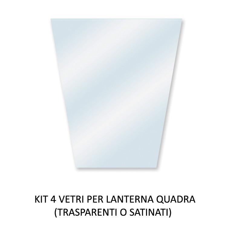 ATHENA GRANDE Kit da 4 Vetri di Ricambio per Lanterna grande
