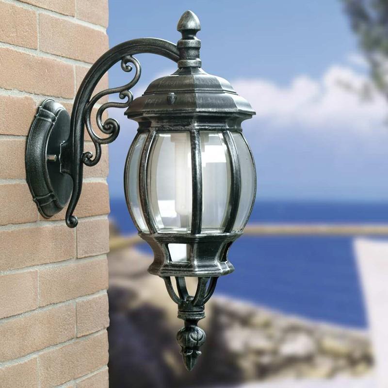 ENEA Applique Lanterna a Parete da Esterno Giardino Classica Tradizionale