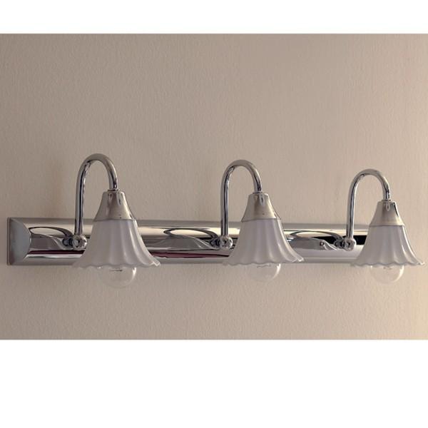 Lampada da specchio specchiera bagno applique cromo - Applique per specchio bagno classico ...