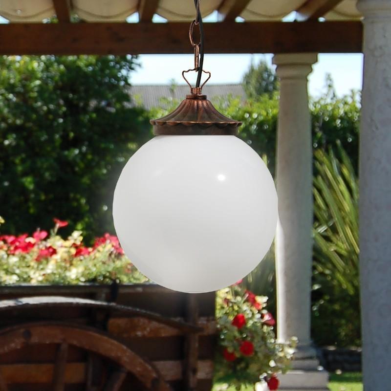 Orione s25 sospensione plafoniera sfera globo d25 for Lampade per esterno