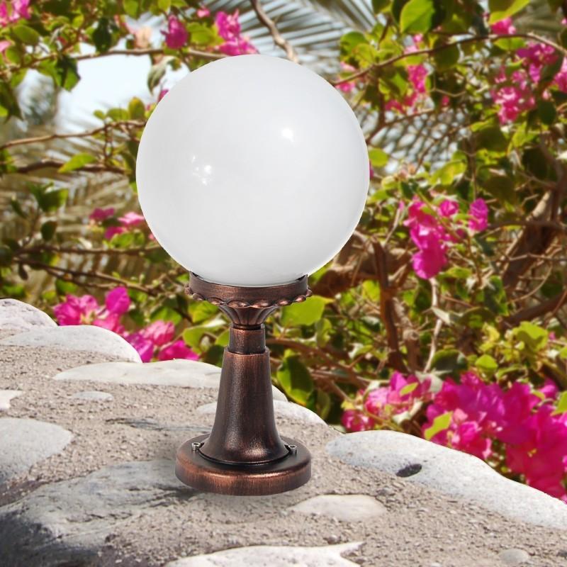 ORIONE S25 Paletto Lampada da Esterno Giardino Sfera Globo d.25
