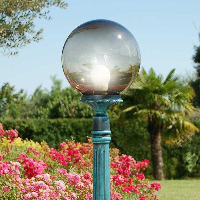 orione s25 palo lampione sfera globo d25 illuminazione