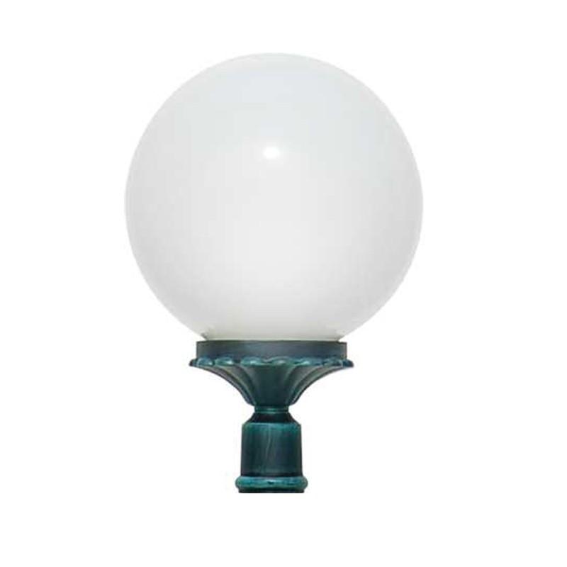 ORIONE Lanterna con attacco per Palo Esistente Sfera Globo d.25 Giardino Esterno