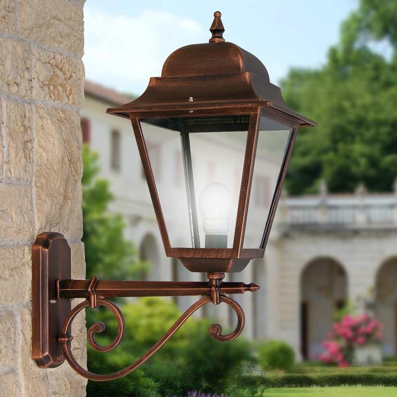 ATHENA GRANDE Maxi Lanterna a Parete Quadrata per Esterno Giardino