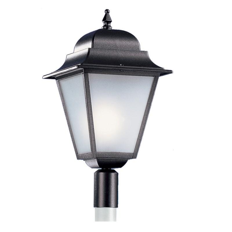 ATHENA GRANDE Lanterna Quadra con Attacco per Palo Esistente Illuminazione Esterno Giardino