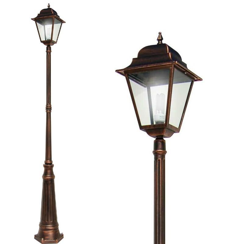 ATHENA GRANDE Lampione Palo Lanterna Quadrata Illuminazione Esterno Giardino