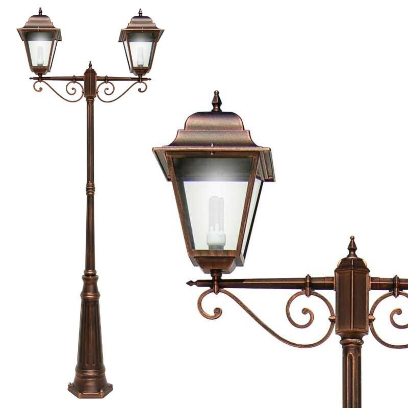 ATHENA GRANDE Lampione Palo Quadrata Illuminazione Classica Esterno