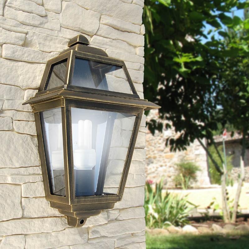 L'ARTÉMIS de la Moitié de la Lanterne Classique Mur de l'Éclairage de Jardin en plein air