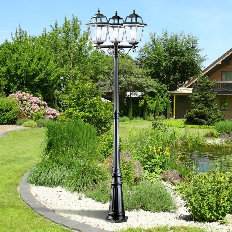 Artemide palo 3 luci lampione classico tradizionale for Lampioni giardino disano