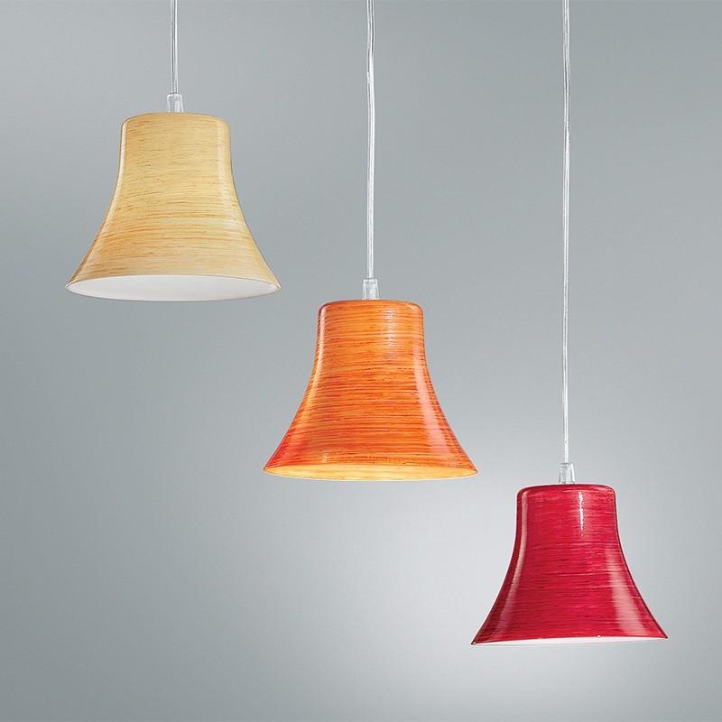 AMELIE de Couleur Lampe à Suspension en Verre Soufflé et d'un Design Moderne Antea Lumière