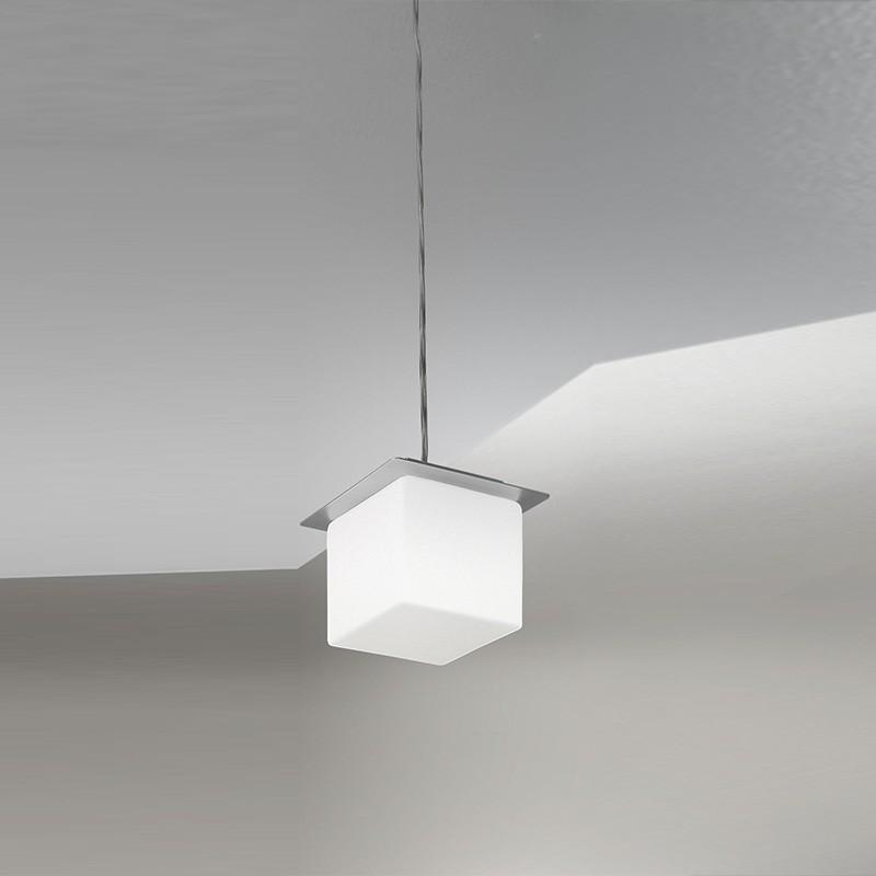 KREA KUBO Mini Sospensione Cubo in Vetro Soffiato dal Design Moderno