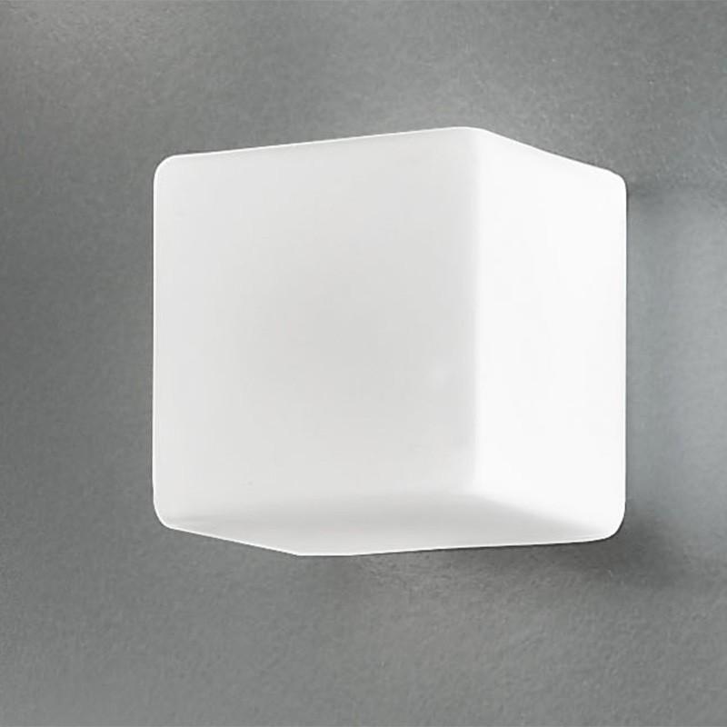 KREA KUBO Applique Cubo in Vetro Soffiato L.16 dal Design Moderno