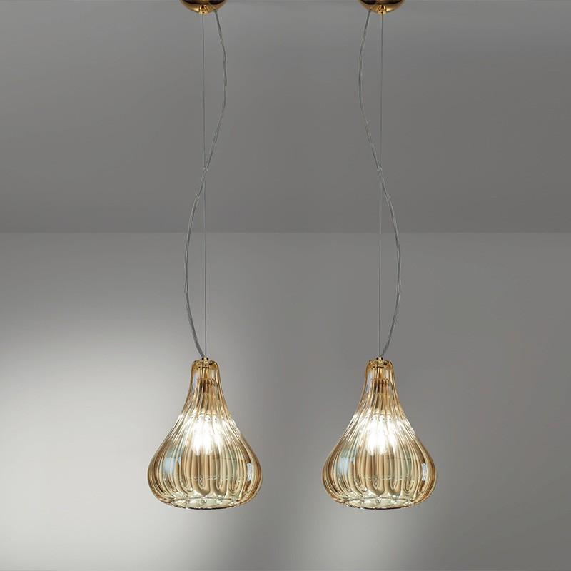 Clivia Elegante Lampada Sospensione D 16 Cristallo Soffiato Antea Luce
