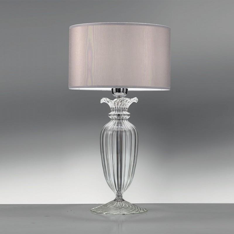 Clivia elegante lampada da tavolo cristallo vetro soffiato for Lumetti da comodino