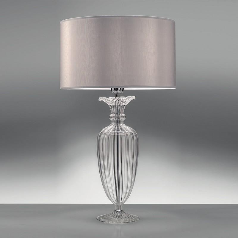 Clivia elegante lampada da tavolo cristallo soffiato for Tavolo cristallo