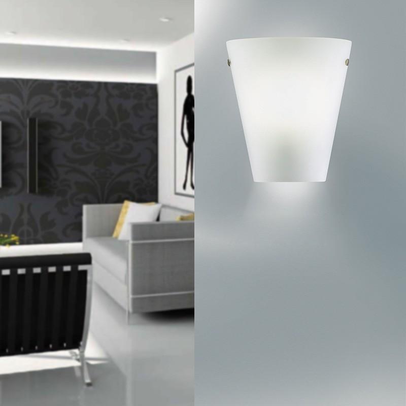 MELODY LIGHT Mezza Applique Vetro Soffiato Design Moderno