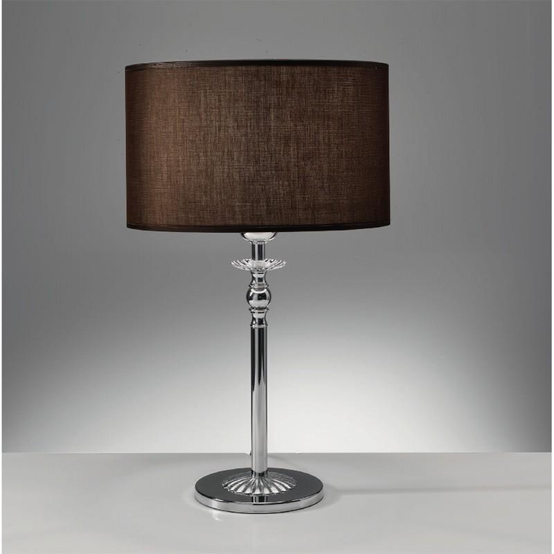 ROYAL Lampada da Tavolo Design con Paralume Marrone Moka D.25