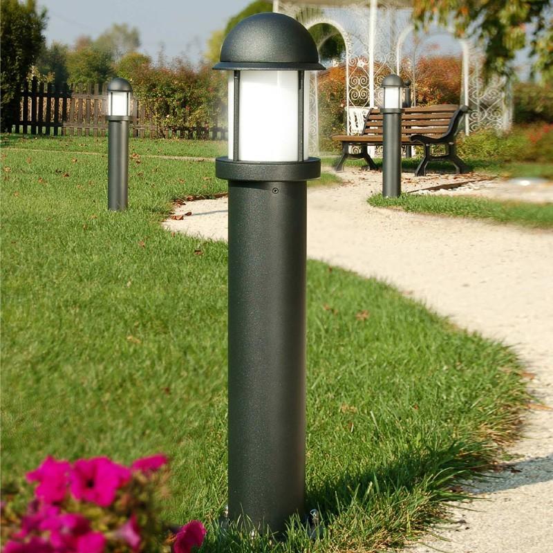 Midos paletto lampioncino moderno in alluminio for Luci x esterno