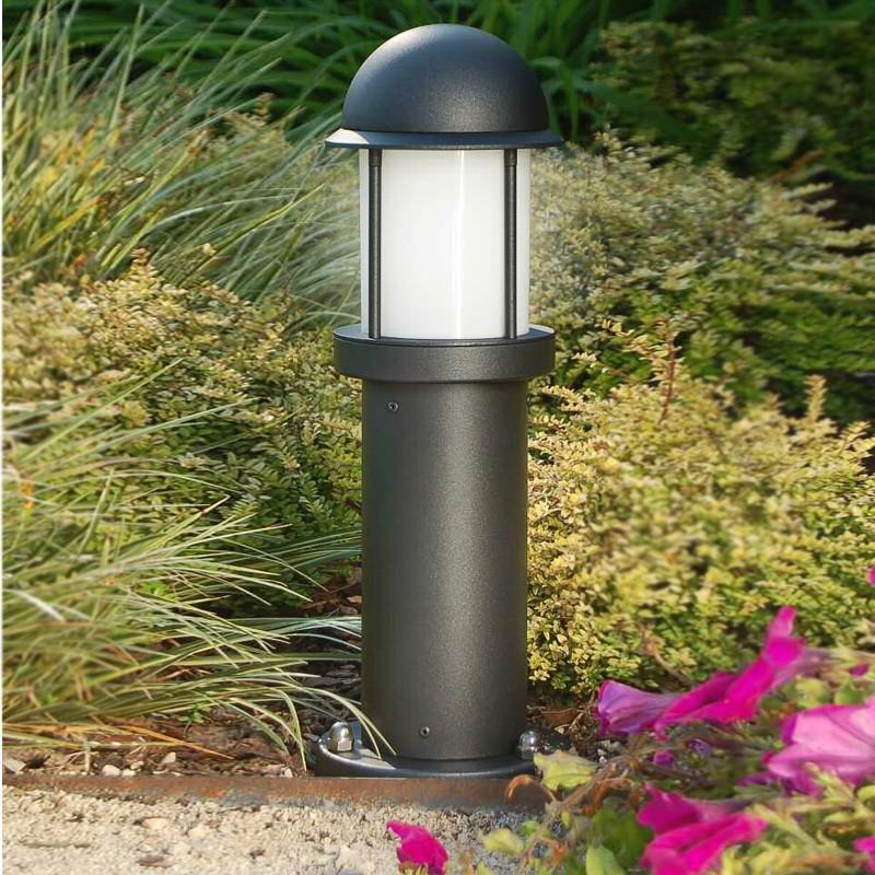 Midos paletto lampioncino moderno in alluminio for Illuminazione da giardino a led