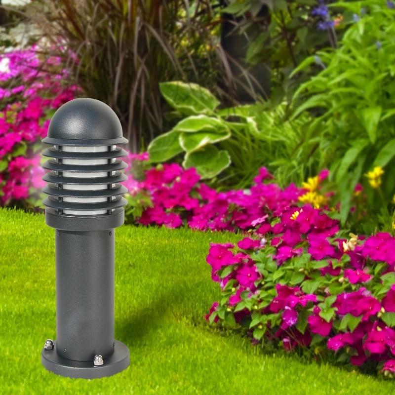 kyle borne lanterne avec un moderne en aluminium de couleur gris anthracite jardin. Black Bedroom Furniture Sets. Home Design Ideas