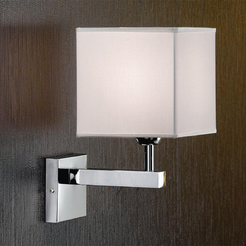 THOR Applique Design Moderno con Paralume Quadrato Bianco