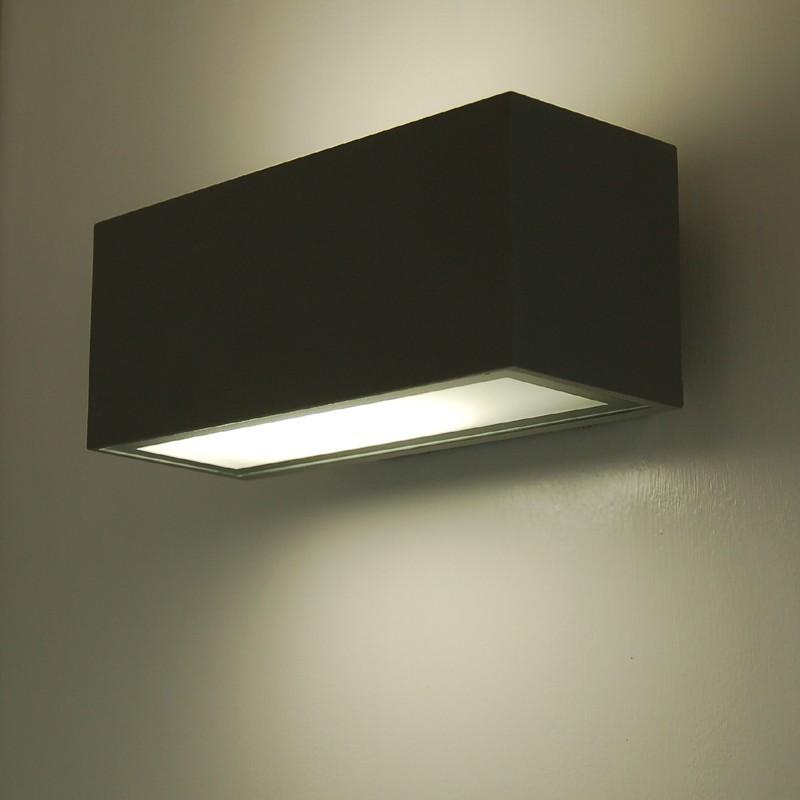 Lampade Per Esterno A Parete.Brick2 Faretto Tecnico Moderno Lampada A Parete Up Down Fascio Birezionale Da Esterno