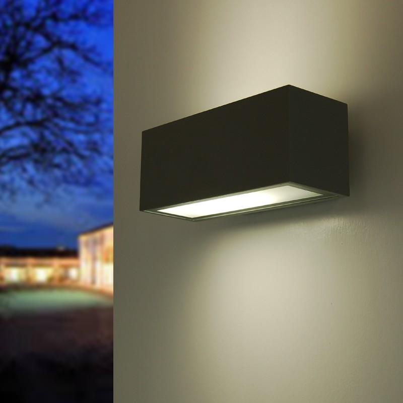 Brick2 faretto moderno lampada parete esterno design - Lampade da esterno design ...