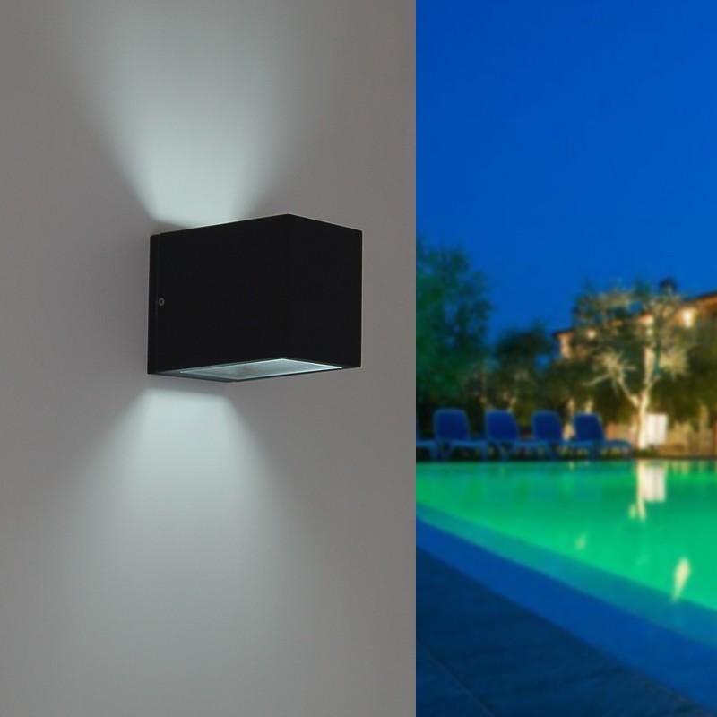 Brick faretto tecnico doppio fascio esterno design moderno for Lampade per esterno