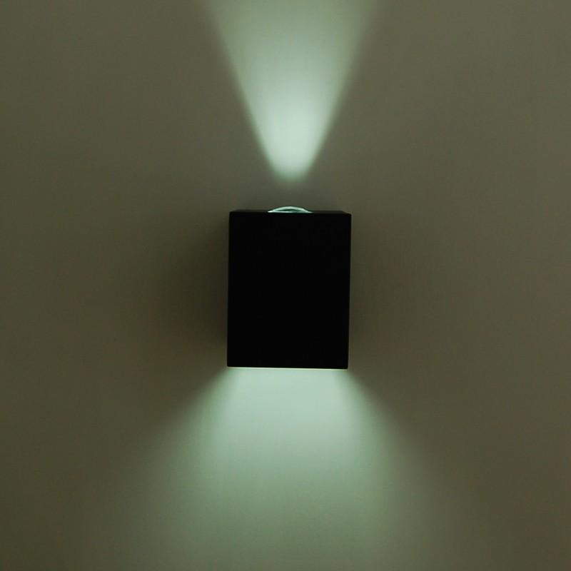 Faretto tecnico a parete doppio fascio esterno moderno for Luci esterno ikea