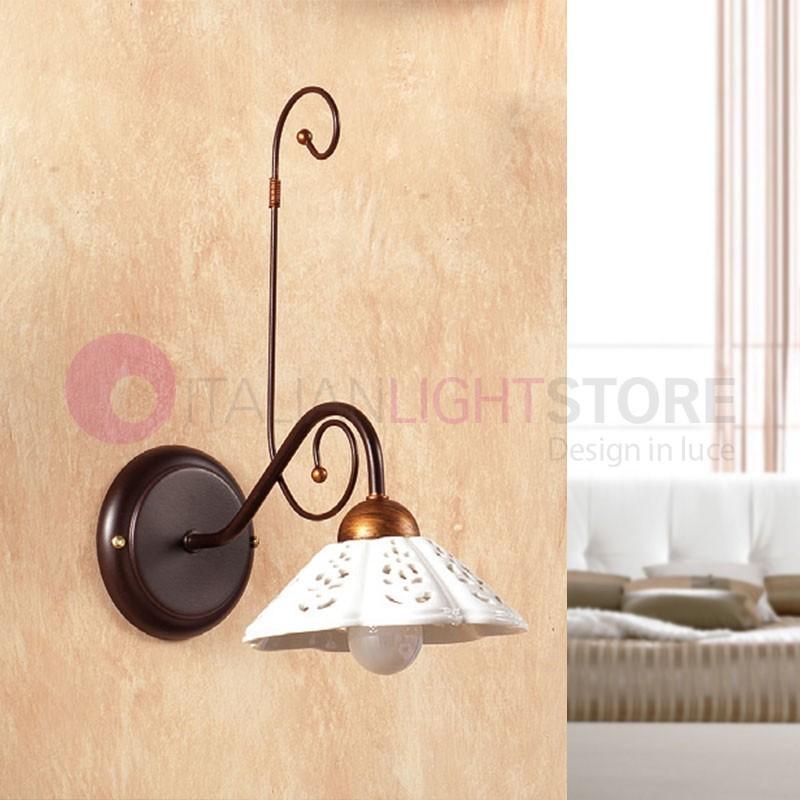 Papaveri applique rustique fer forg c ramique fleurs de - Appliques murales en fer forge ...