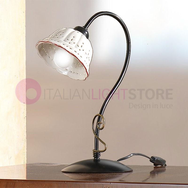 TAVERNELLE Lampada Tavolo Ferro Ceramica Rustica Ceramiche Borso