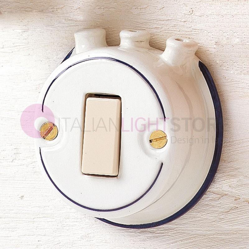 INTERRUTTORE a Pulsante in Ceramica con Pipe