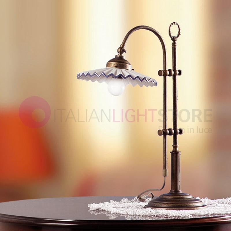 Lampada da Tavolo in Ceramica Ottone Rustica Country - Ceramiche Borso