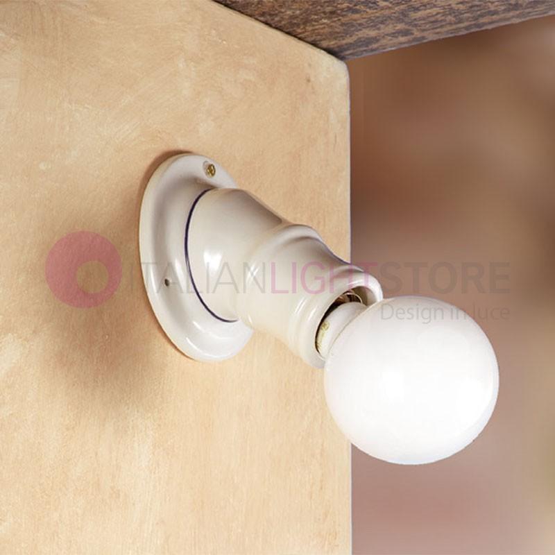 applique spot mural inclin c ramique ampoule vis. Black Bedroom Furniture Sets. Home Design Ideas