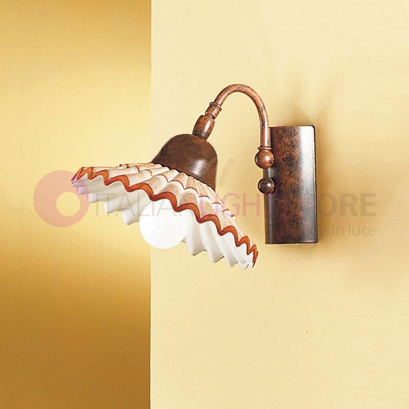 VANIA Lampe de Mur en Céramique de Style Rustique Pays