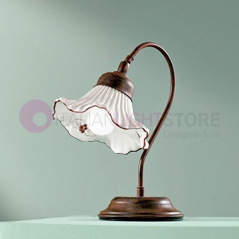 ANNA Lampada da Tavolo in Ceramica Stile Rustico
