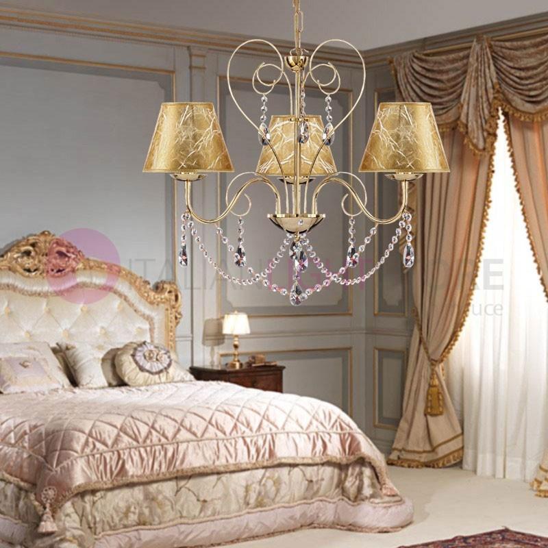 lia lustre 3 lumi res avec abat jour design en chrome avec. Black Bedroom Furniture Sets. Home Design Ideas