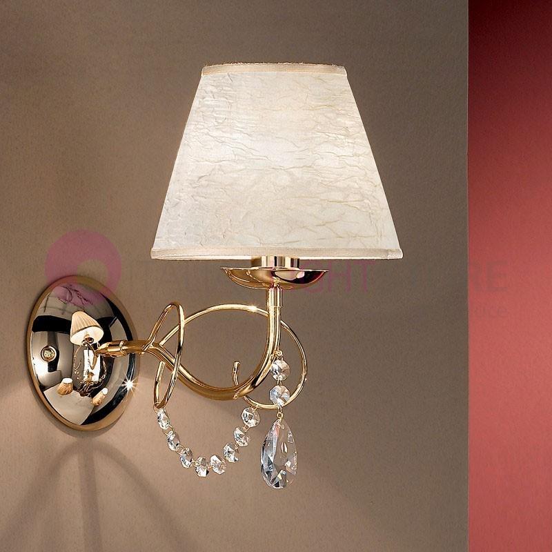 LIA Applique Lampada a Parete con Paralume  e Pendagli Design Moderno