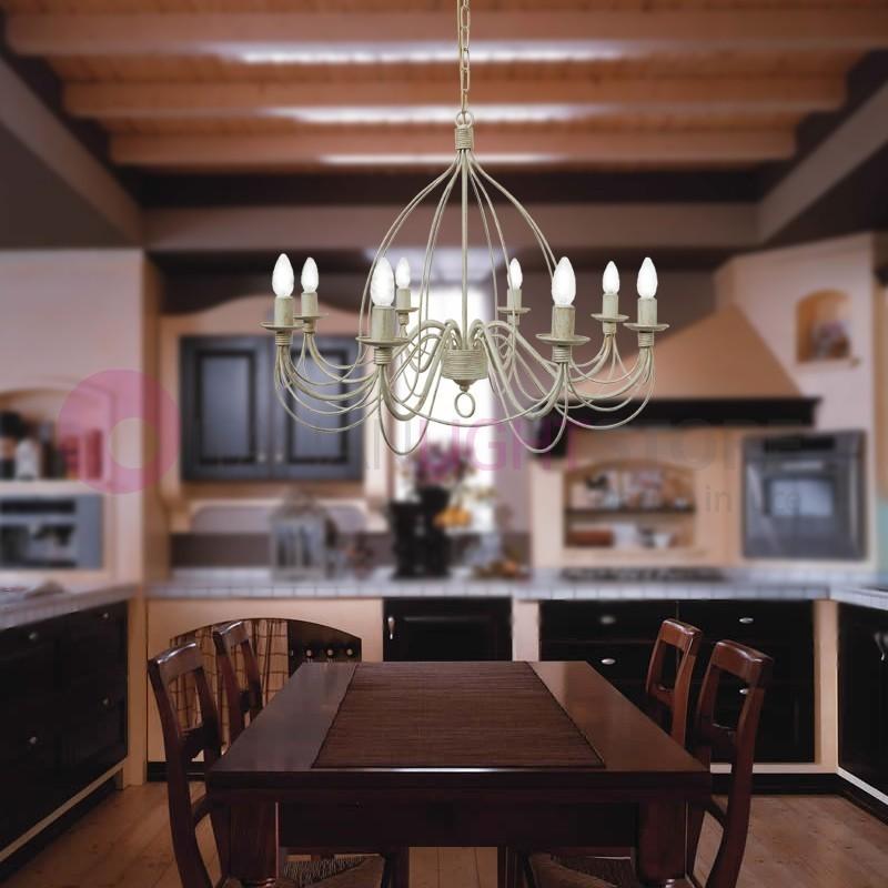 Fiammingo lampadario grande classico corte candela rustico - Lampadari cucina country ...