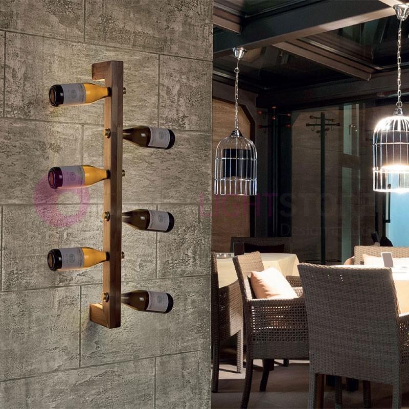 Applique e lampade da parete a led italianlightstore - Portabottiglie da parete ikea ...