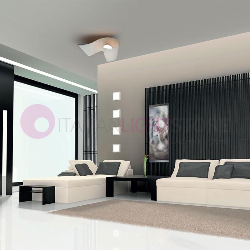 CARRIE Lampada da Parete e Soffitto in Vetro Curvato L.13 Design Moderno