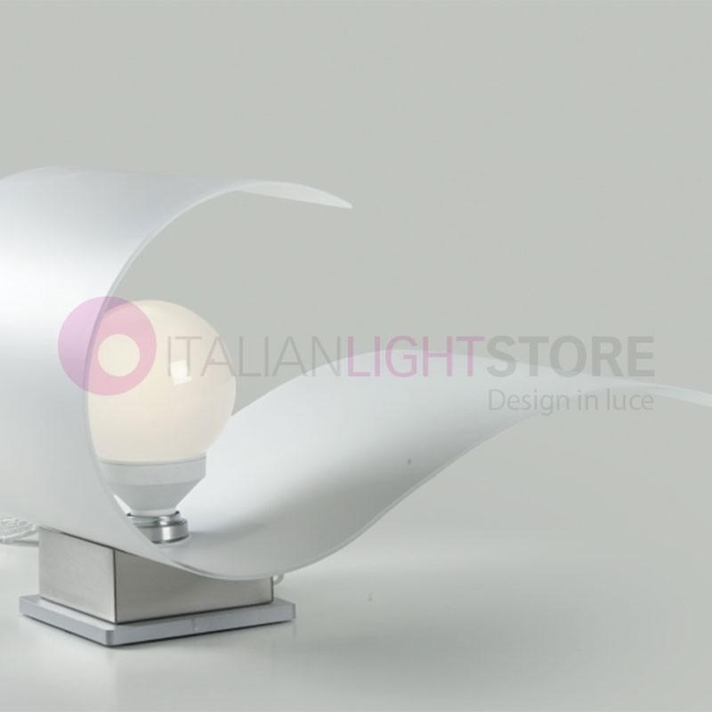 CARRIE Lampada da Tavolo in Vetro Curvato L.13 Design Moderno