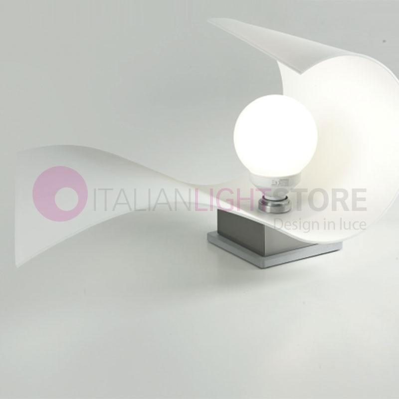 CARRIE Lampada da Tavolo in Vetro Curvato L.22 Design Moderno