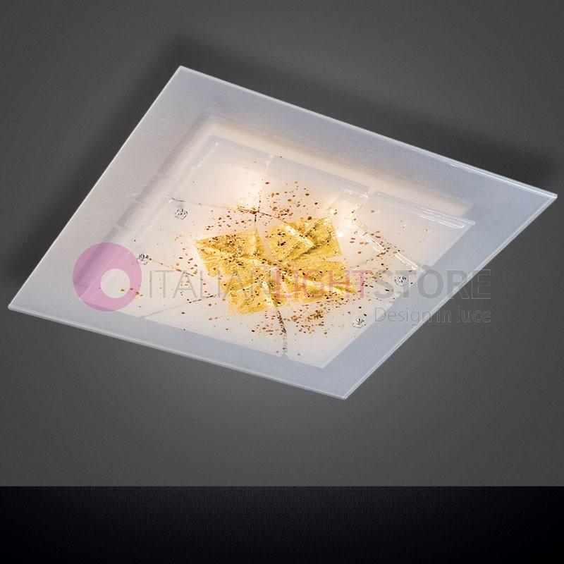 Miami Oro Plafoniera Vetro Murano 50x50