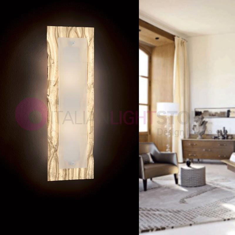Corteccia Applique Plafoniera Vetro Murano 60x20