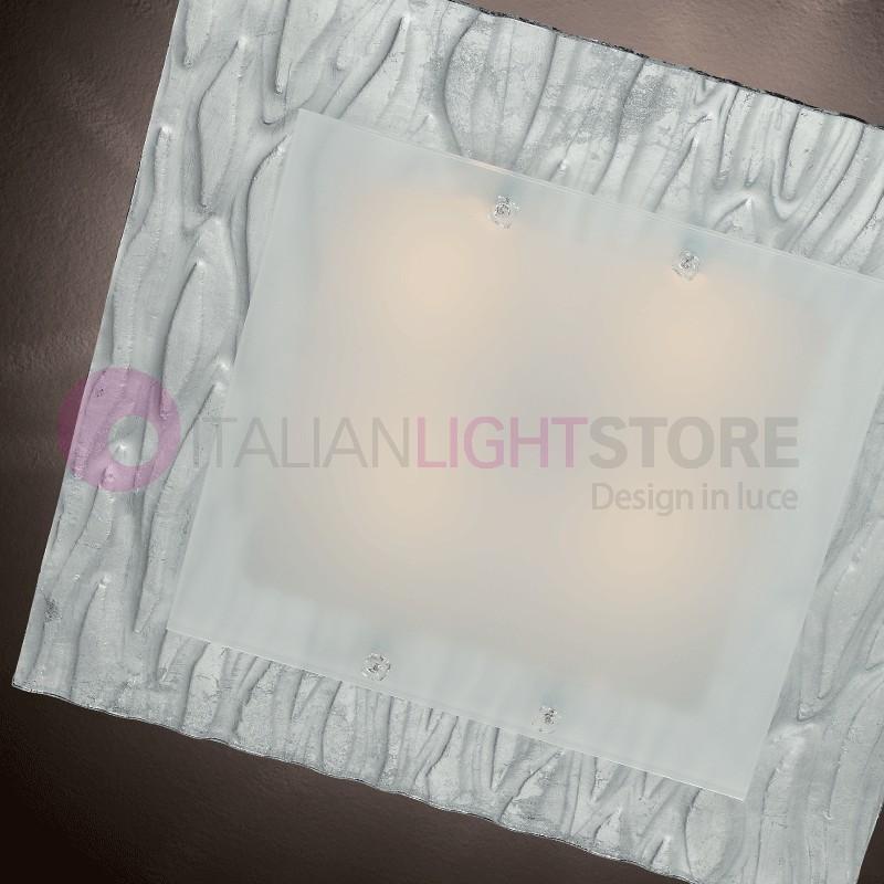 Corteccia Lampadario a Soffitto Vetro Murano 60x60
