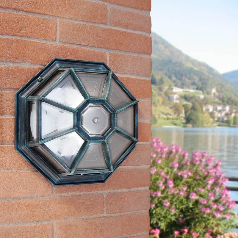VENUS Plafoniera Lanterna a Parete e Soffitto Alluminio Illuminazione Esterno Giardino
