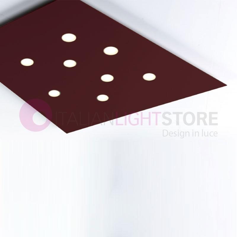 FUORISQUADRA Plafoniera Pannello 8 LED Design Moderno